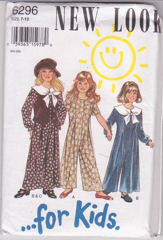 Sewing pattern For Kids long jumpsuit with by beththebooklady, $9.99 ...