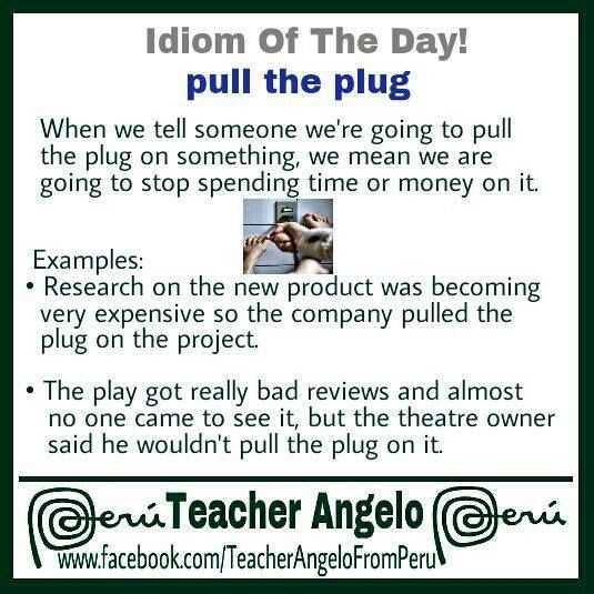Pull The Plug English Idioms English Tips Word Choice