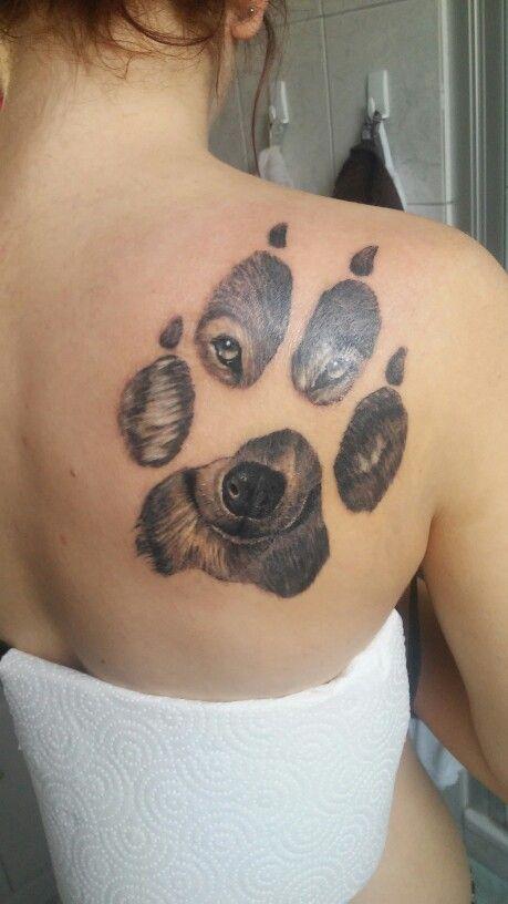 #shoulder #tattoo #paw #wolf #realistic