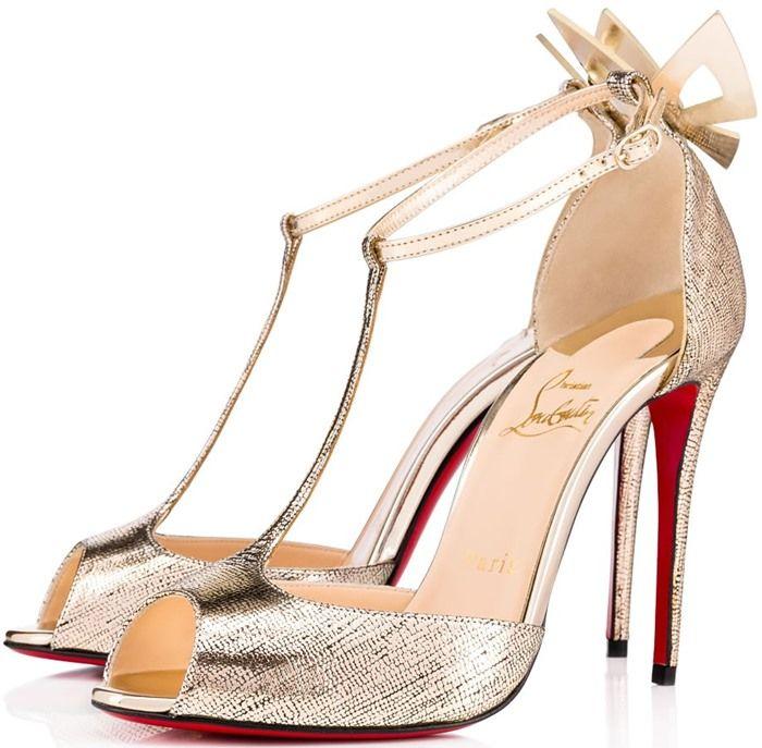 4e8cd4d1f2ae Christian Louboutin  Aribak  Bow-Embellished T-Bar Sandals ...