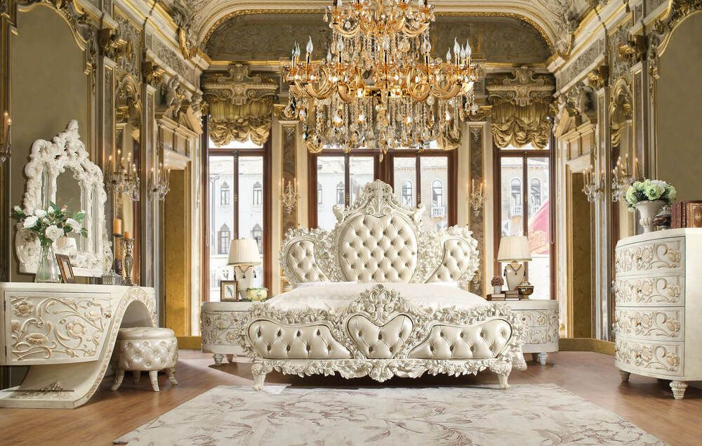 Find Many Great New Used Options And Get The Best Deals For Luxury Bedroom Set 8030 White Eastern K Luxury Bedroom Sets Luxurious Bedrooms King Bedroom Sets