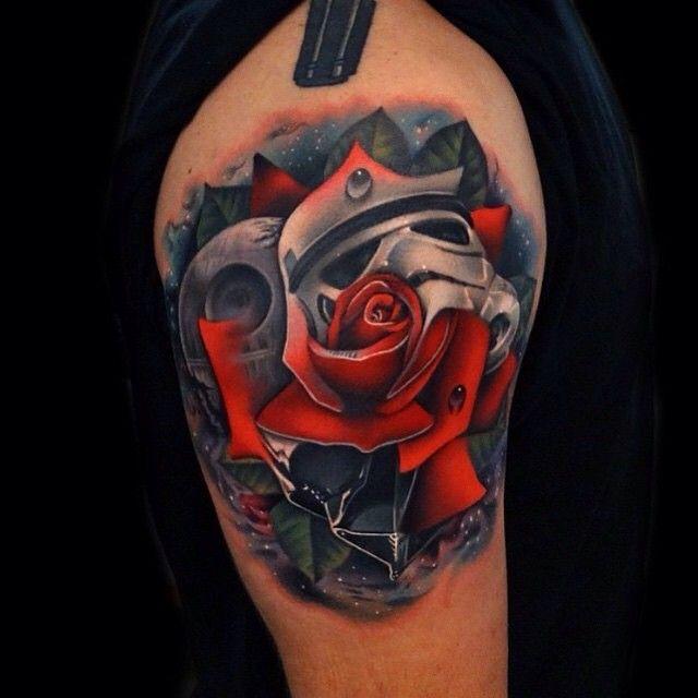 Badass Star Wars Rose Artist Acostatattoo Location Austin Tx