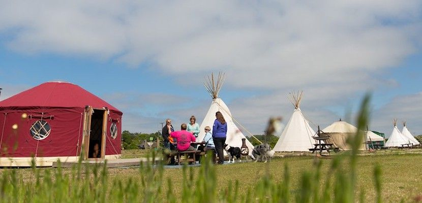 Deepdale Glamping, stay in a Tipi or Yurt on the North Norfolk coast.