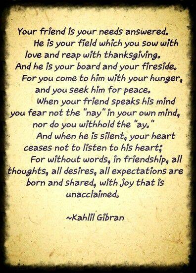 Khalil Gibran Quotes On Friendship : khalil, gibran, quotes, friendship, Kahlil, Gibran, Friendship, Gibran,, Words,, Words