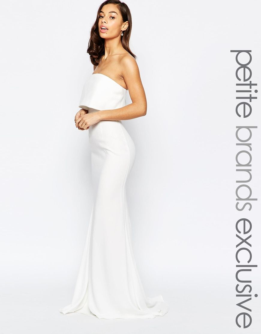 Asos grecian style maxi dress with thigh split white dress