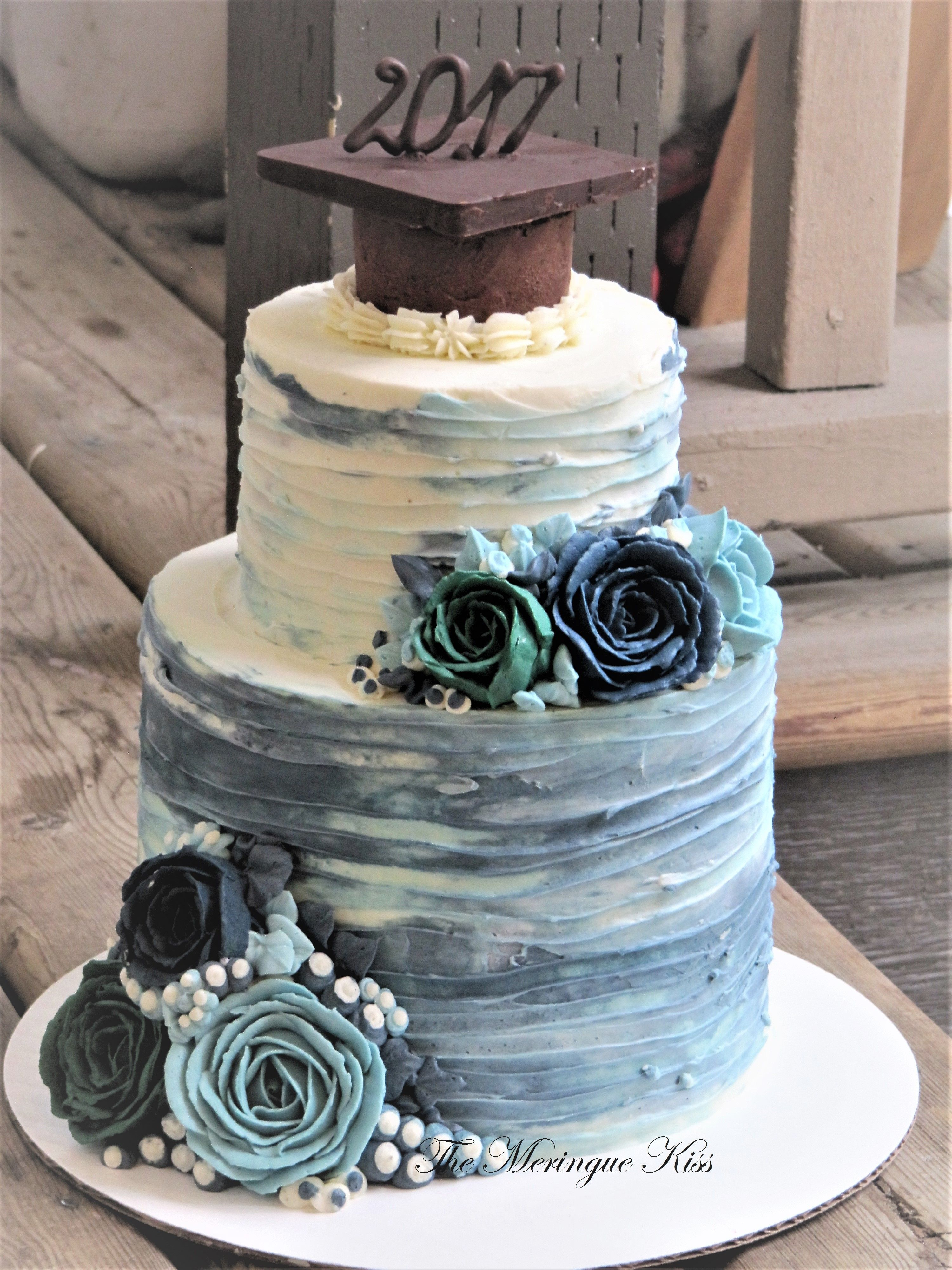 Buttercream graduation cake   Graduation party cake ...