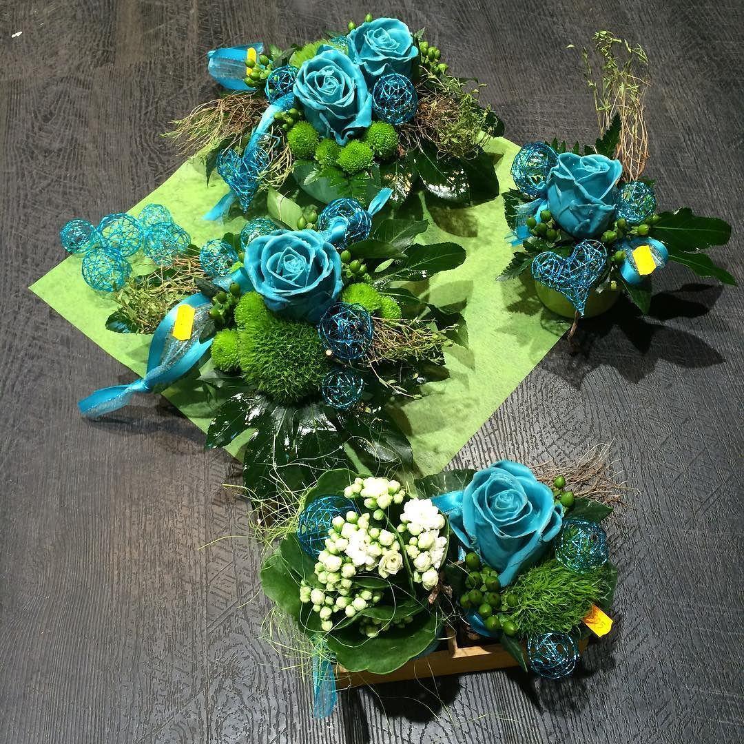 Wachsrosen t rkis rose nice beautiful deko tischdeko - Drahtkugel deko ...
