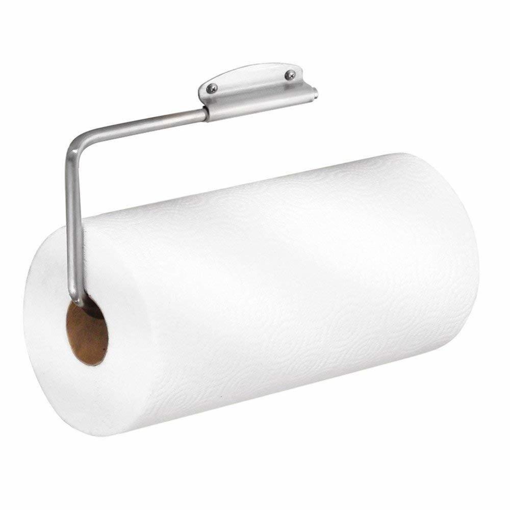 Wall Mount//Under Cabinet InterDesign Paper Towel Holder for Kitchen White