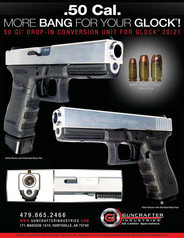 Next Glock on my list will be the 21, in .45.  Then, of course, the .50 caliber upper for it is a must!