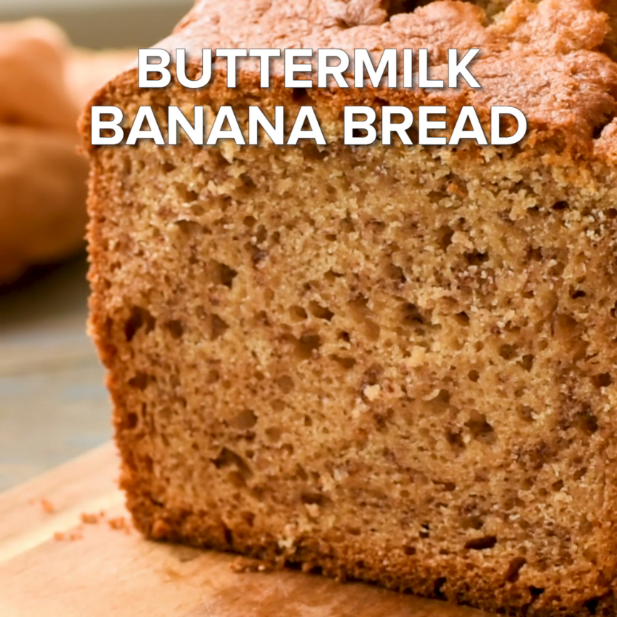 The Best Buttermilk Banana Bread This Is The Best Banana Bread Recipe Ever This Is An Easy Recip In 2020 Buttermilk Banana Bread Best Banana Bread Buttermilk Recipes