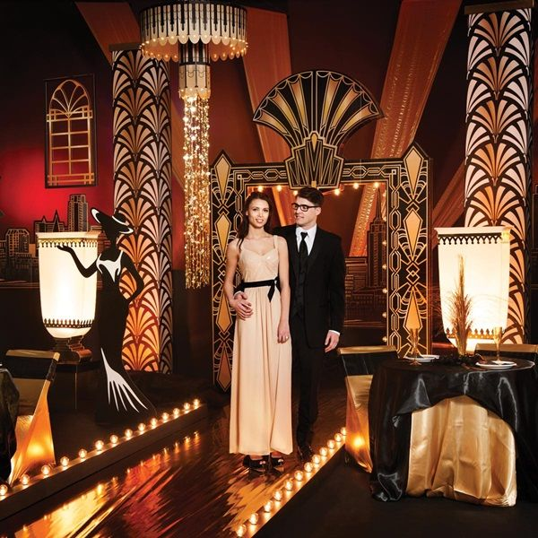 Puttin On The Ritz Complete Theme Anderson S Great Gatsby Prom Theme Prom Decor Vegas Theme Party
