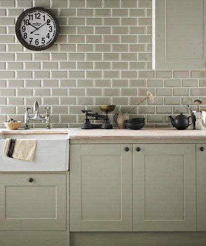 Chartwell Sage Kitchen Backsplash Wall Tiles For Cottage Green