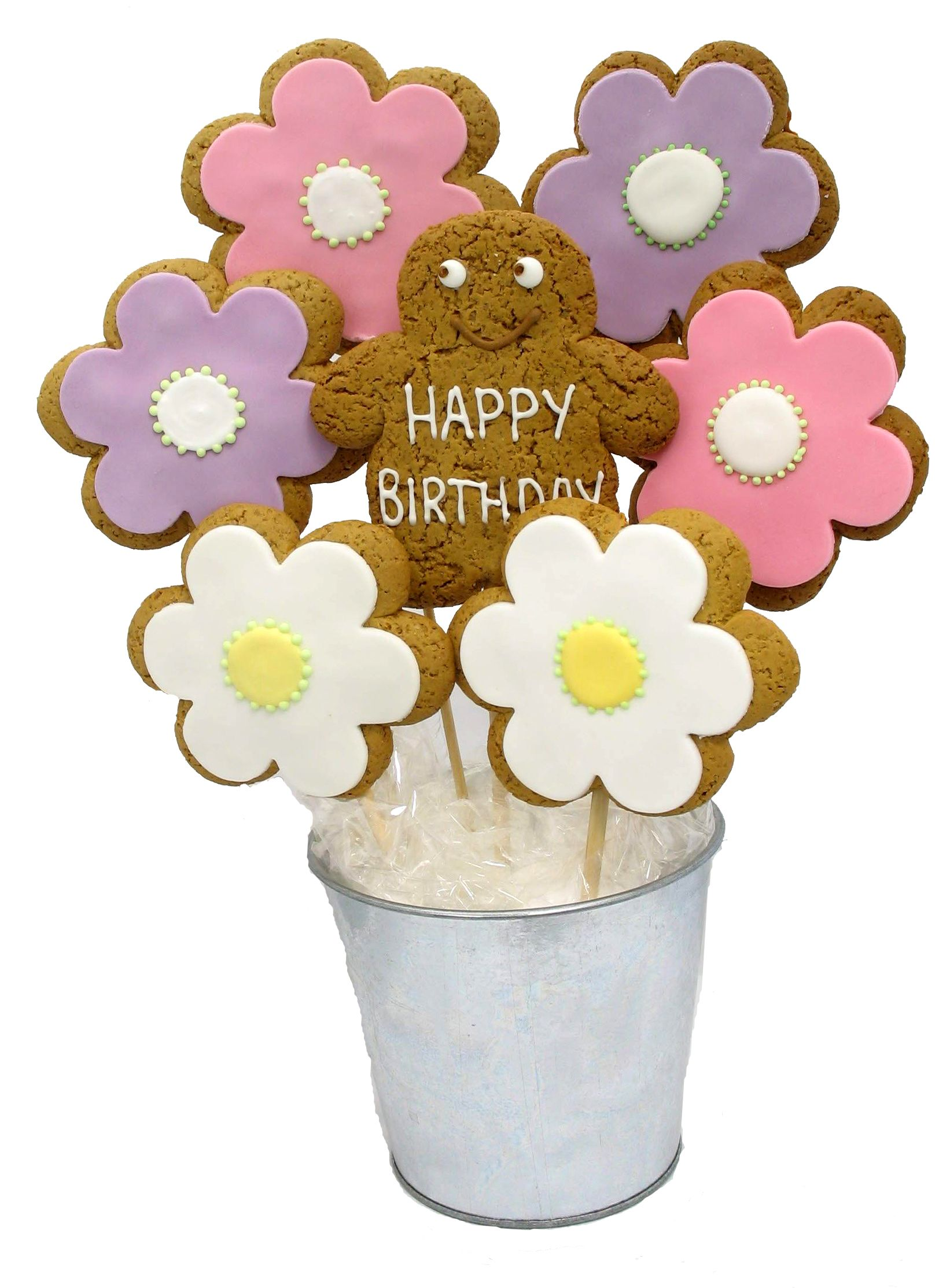 Happy Birthday Flowers bouquet by imageonfoodcouk  Cookies  Decorated Cookies  Gingerbread