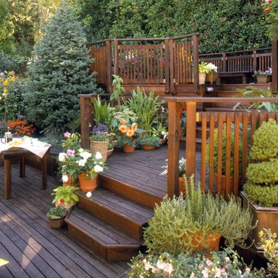 25+ Multi Level Deck Design Ideas for Exciting Parties ... on 2 Level Backyard Ideas id=32986