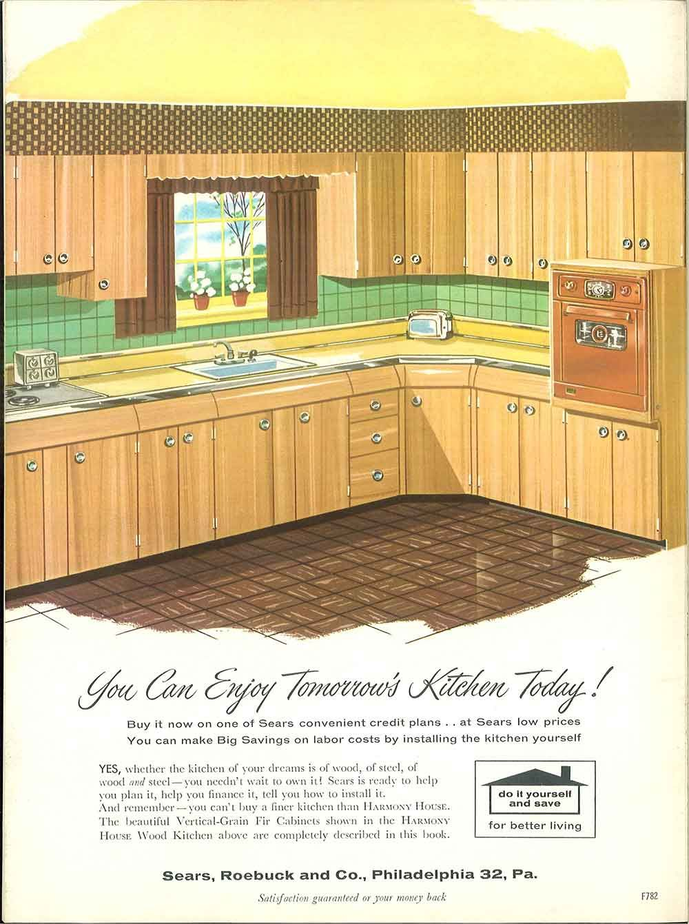 1958 Sears Kitchen Cabinets And More 32 Page Catalog Retro Renovation Home Improvement Catalog Kitchen Cabinets