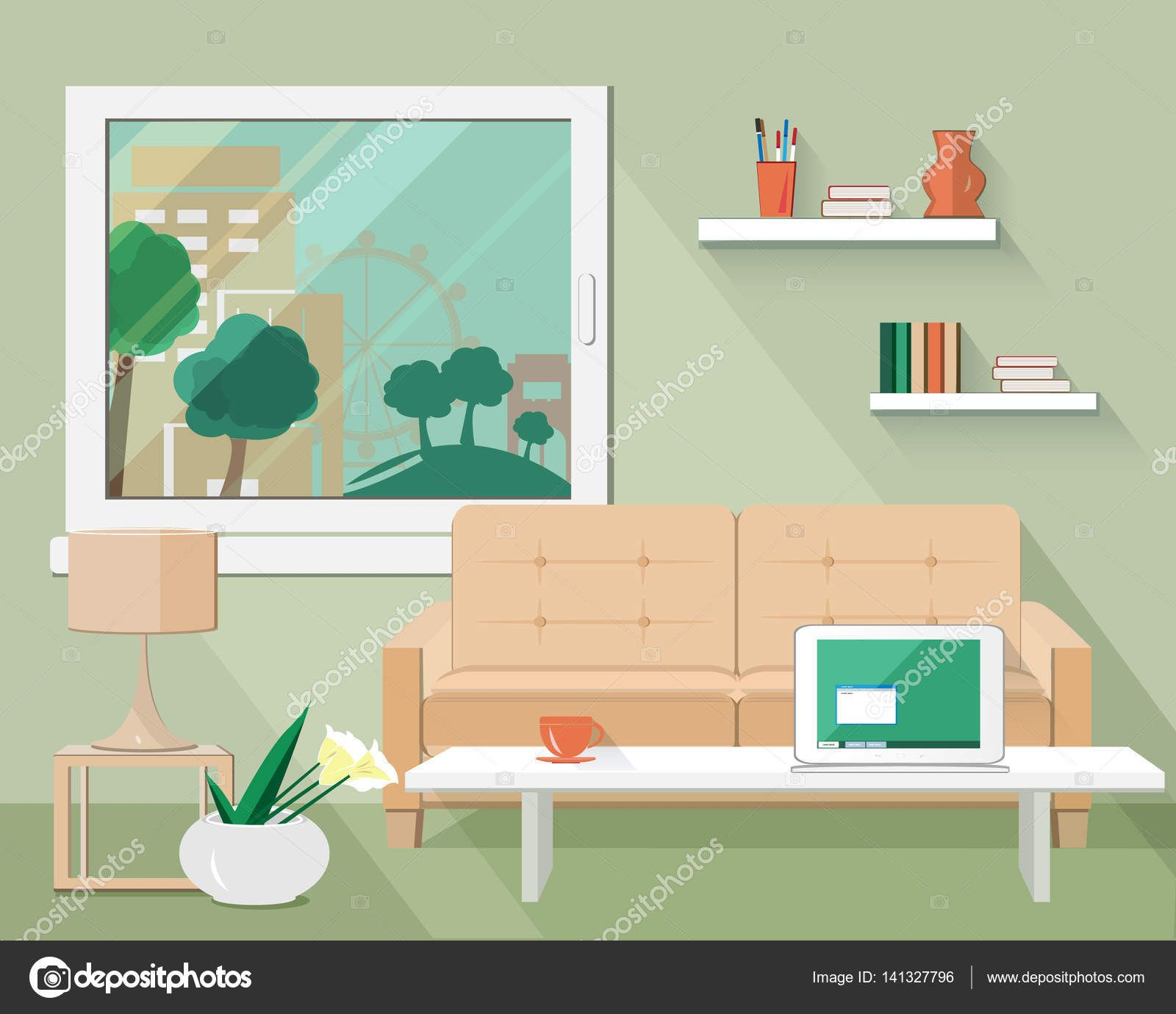 20 Awesome Lounge Room Vector Green Living Room Decor Wallpaper