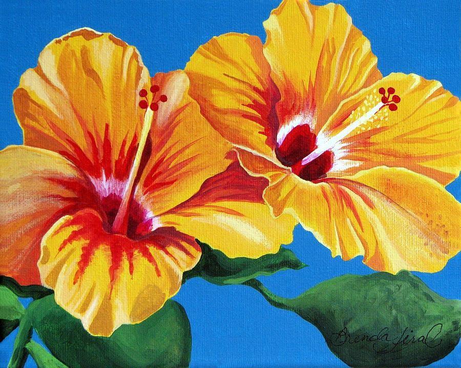 Tropical Beauties Painting by Brenda Jiral - Tropical Beauties Fine