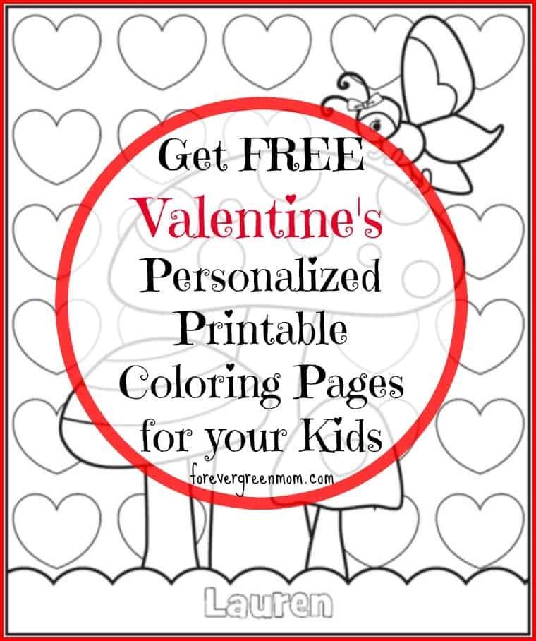 - Personalized Valentine's Butterfly Garden Coloring Page Frecklebox  Valentine Coloring Pages, Printable Coloring Pages, Garden Coloring Pages