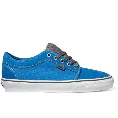 848ecf2c63 Vans Chukka Low Skate Shoe Men s Bright Blue Pewter on Sale ...