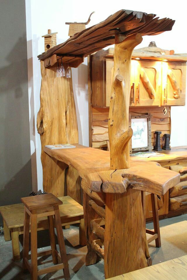 Madera mostrador madera rustica muebles muebles for Muebles rusticos de madera