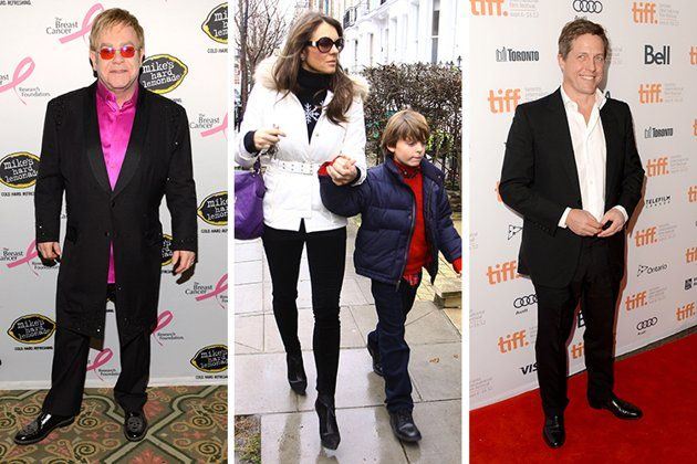 Celebrity Godparents Elizabeth Hurley S Son Damian Has Many Godparents Including Hugh Grant And Elton John God Parents Elizabeth Hurley Celebrities