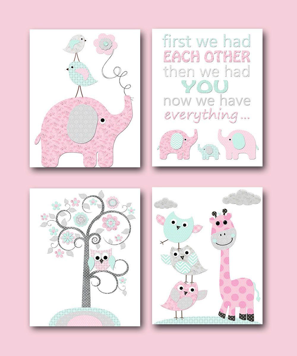Baby Girl Nursery Quotes Kids Wall Art Kids Art INSTANT DOWNLOAD Art Baby  Nursery Decor Digital Print Digital Download Set Of 4 8x10 11X14