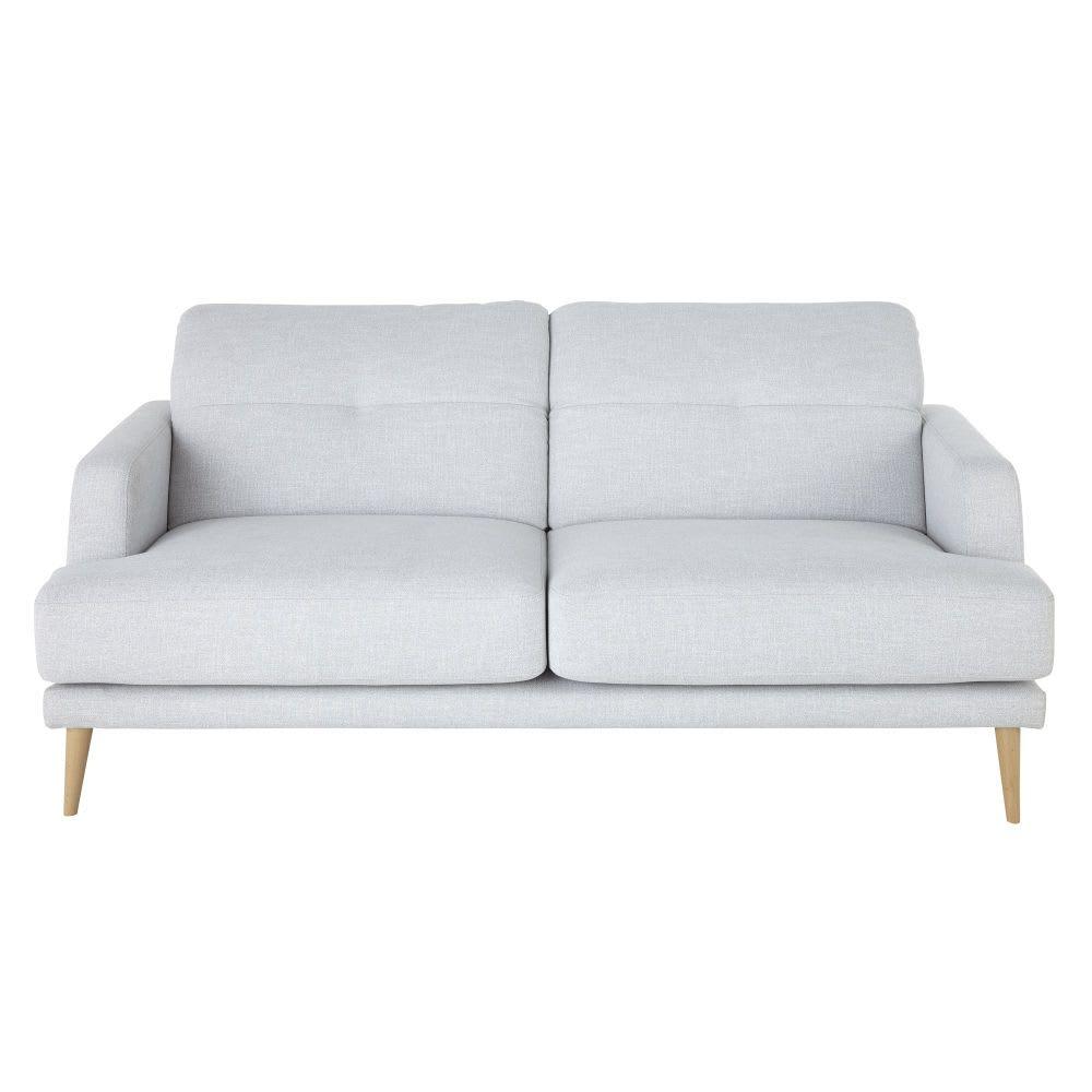 3 Sitzer Sofa Im Skandinavischen Stil Hellgrau Missouri Maisons Du Monde 3 Sitzer Sofa Skandinavischer Stil Sofa