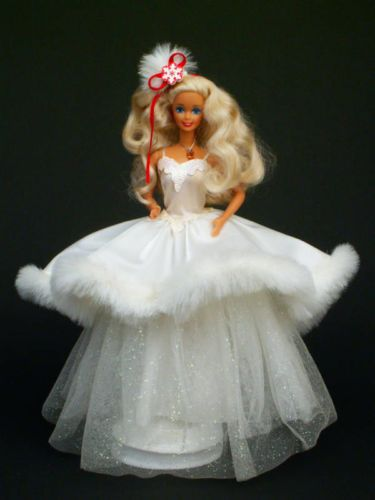 1988 1989 1990 1991 Holiday Christmas Barbie Doll No Boxes Lot 4 Just Removed 074299017032