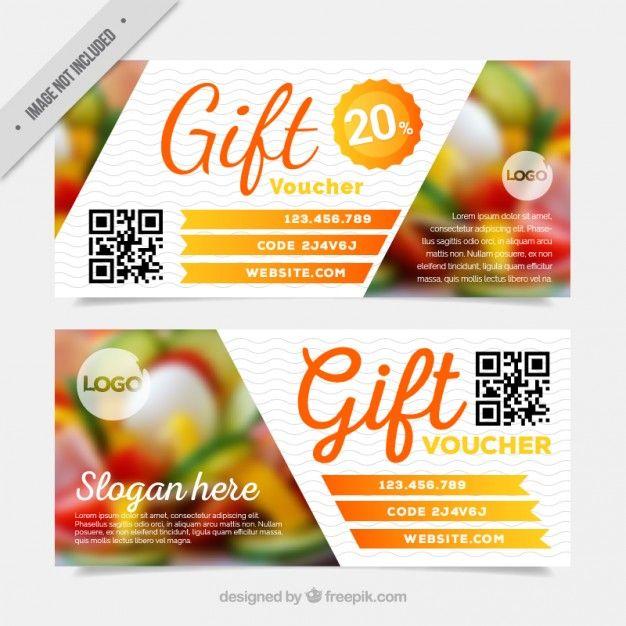 Скидочные купоны пакет ресторана Бесплатные векторы design - discount voucher design