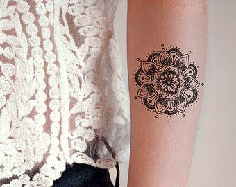 Mandala Temporary Tattoo Bohemian Boho Gift Fake Idea