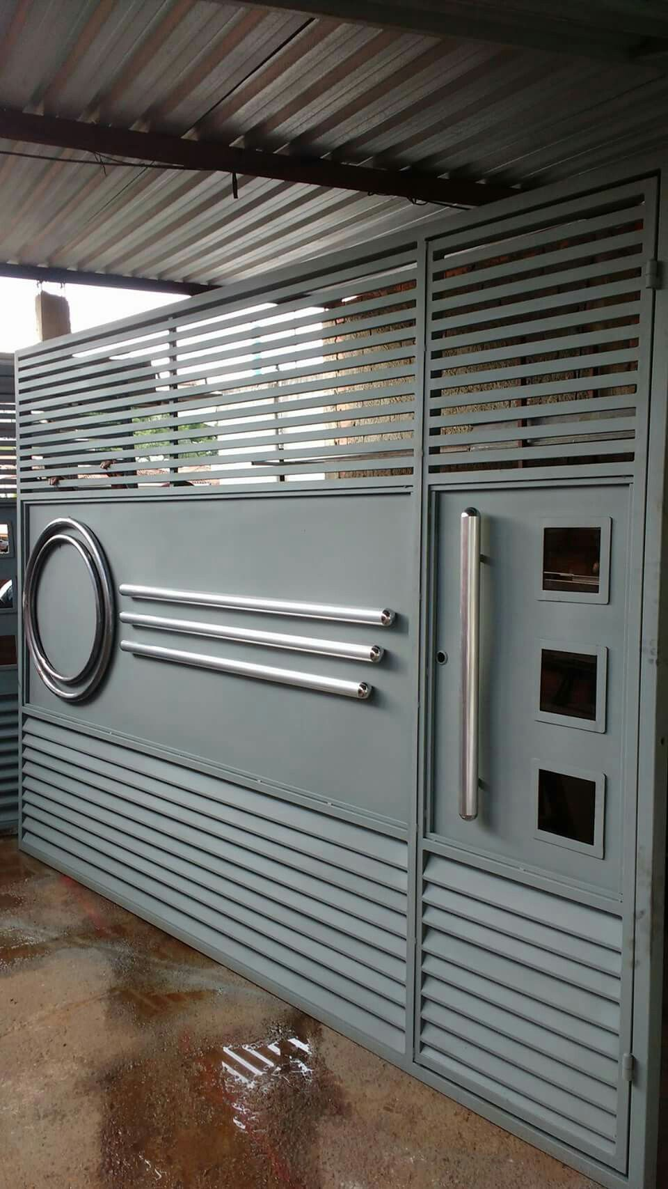 Port o com detalhes kitchen trends steel gate design - Sliding main gate design for home ...