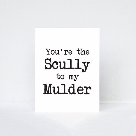Anniversary TV Birthday Card X Files Scully To My Mulder Card Friendship