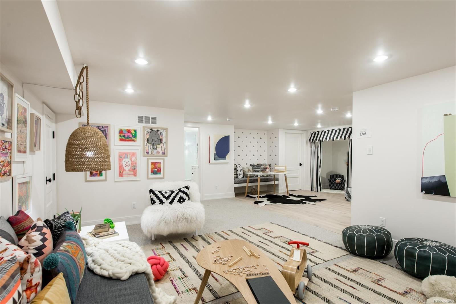 Denver designer show house basement designed by studio lw also rh pinterest