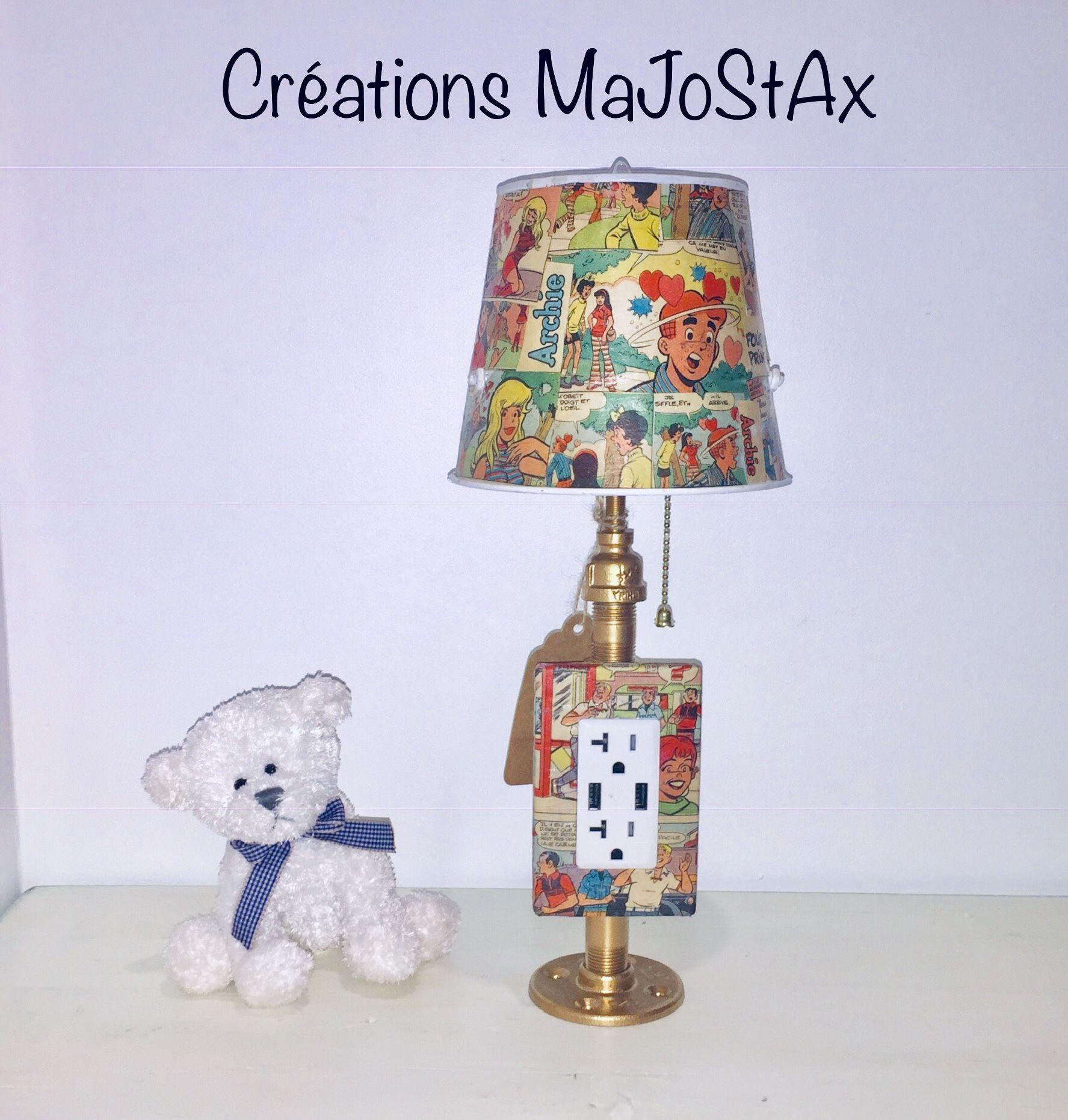Chevet Lampe Superbe Usb Avec Chargeur Recouv De Nn0wmv8