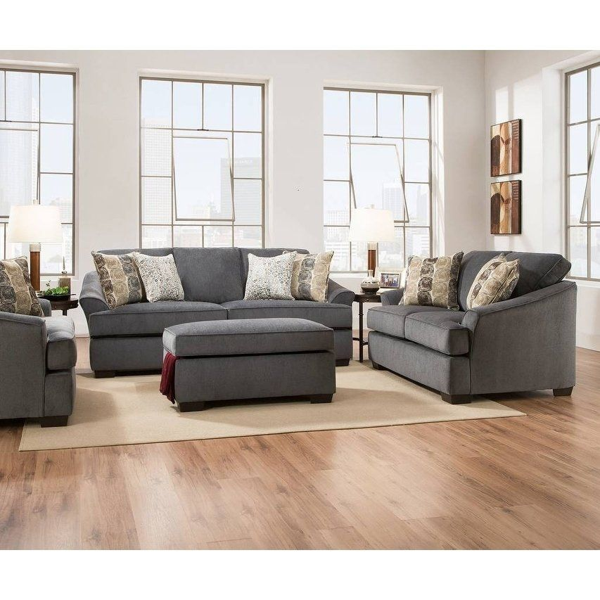 Superb Simmons Upholstery Athena Sky Sofa Grey Fabric Products Caraccident5 Cool Chair Designs And Ideas Caraccident5Info