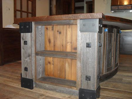 reclaimed wood, steel accents - for bar top - Reclaimed Wood, Steel Accents - For Bar Top Kitchen Reno Final