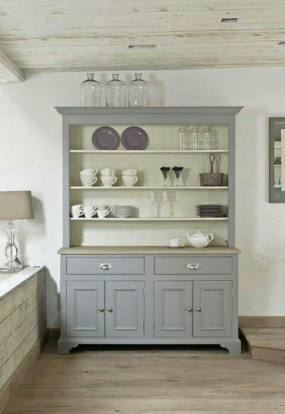 Mueble pintado en gris violeta de mary paint paint for Muebles pintados en gris