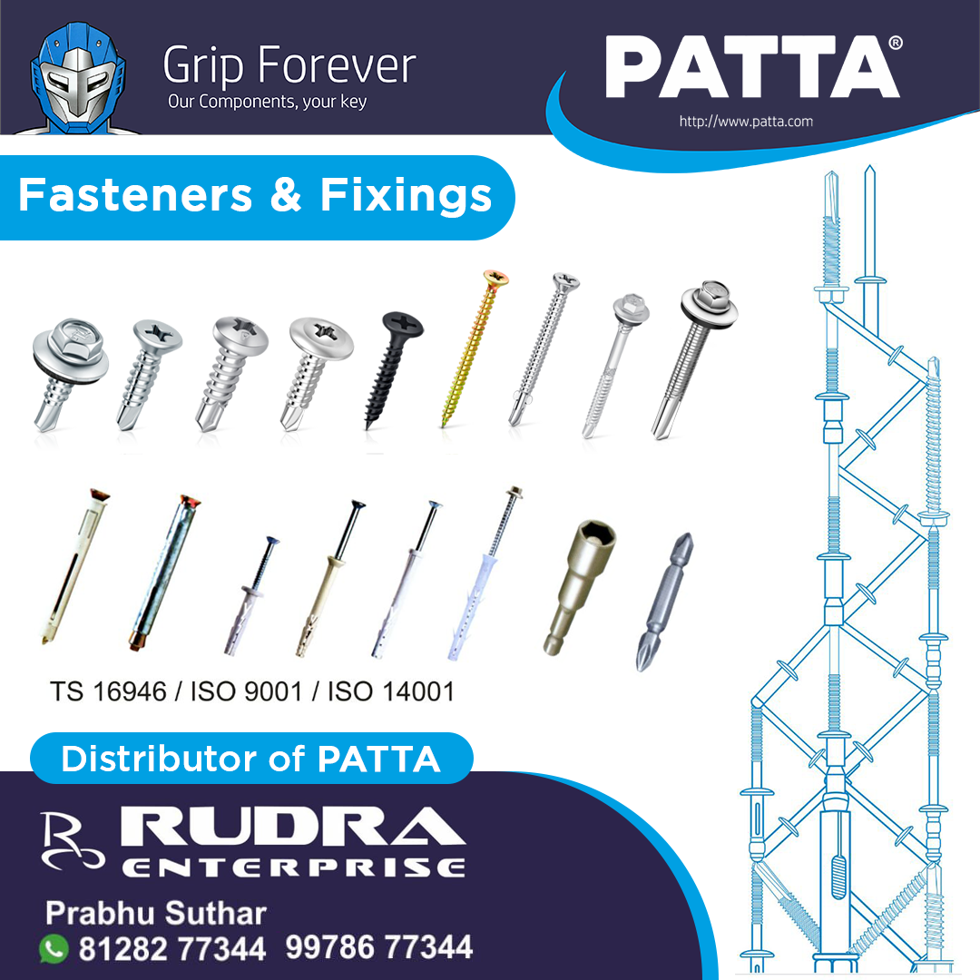 High Quality Fasteners Fixings By Patta Ensure A Forever