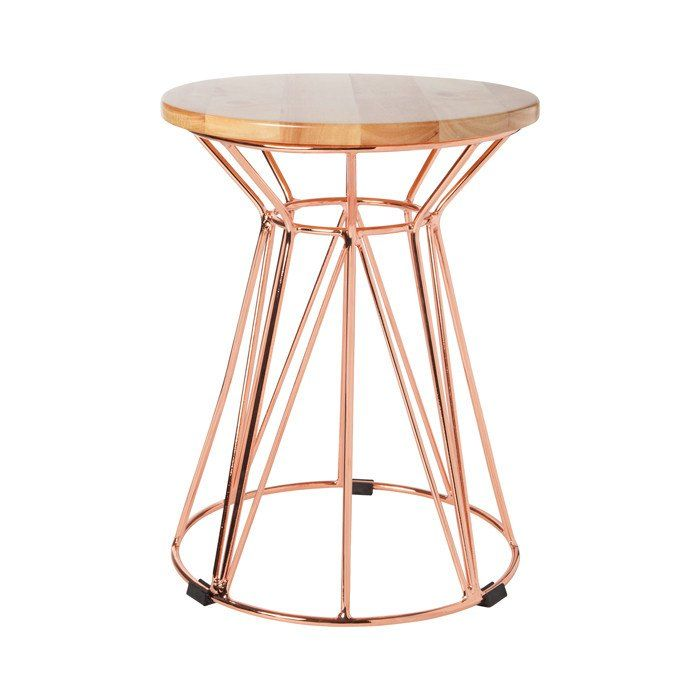 Wire Side Table Rose Gold Wire Side Table Side Table Unique