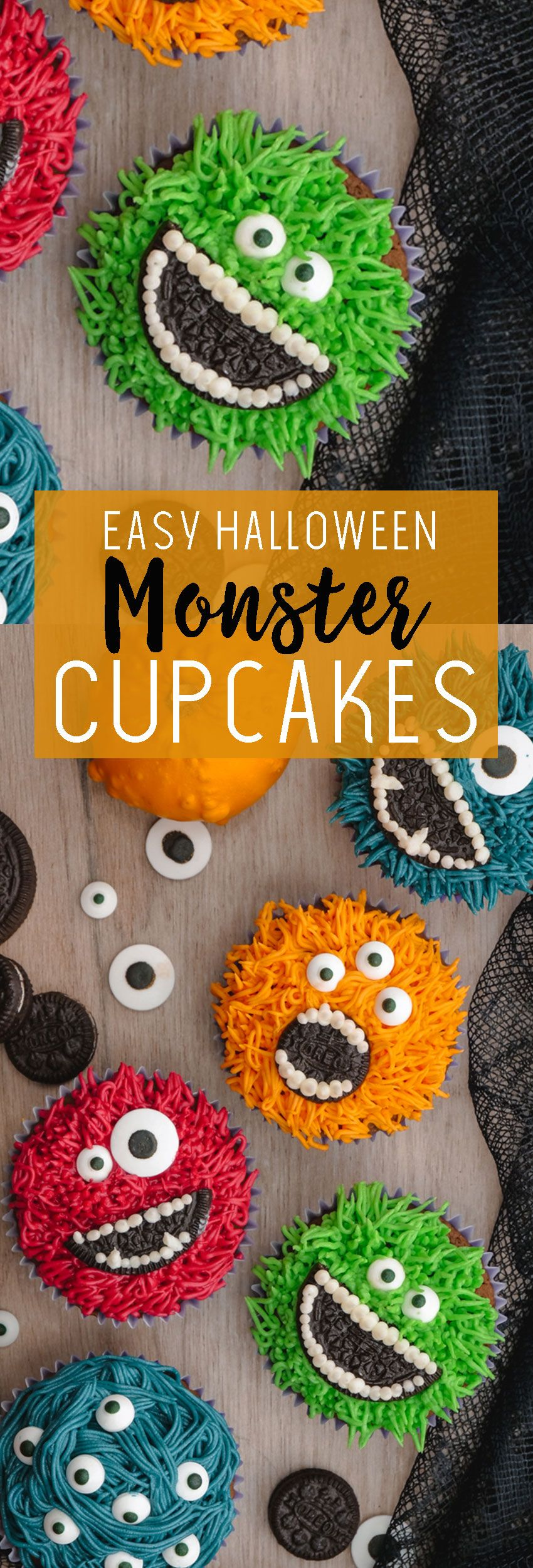 Halloween Cupcakes: Monster Cupcakes - Easy Peasy Meals