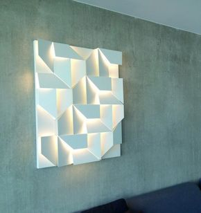 Family Of Wall Lamps For A Diffused Led Lighting In Different Dimensions Matt White Powder Coated Aluminium With Images Wall Lighting Design Textured Wall Panels