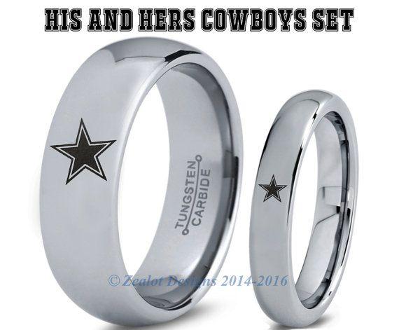 Dallas Cowboys Tungsten Wedding BandDallas Cowboys Tungsten Ring