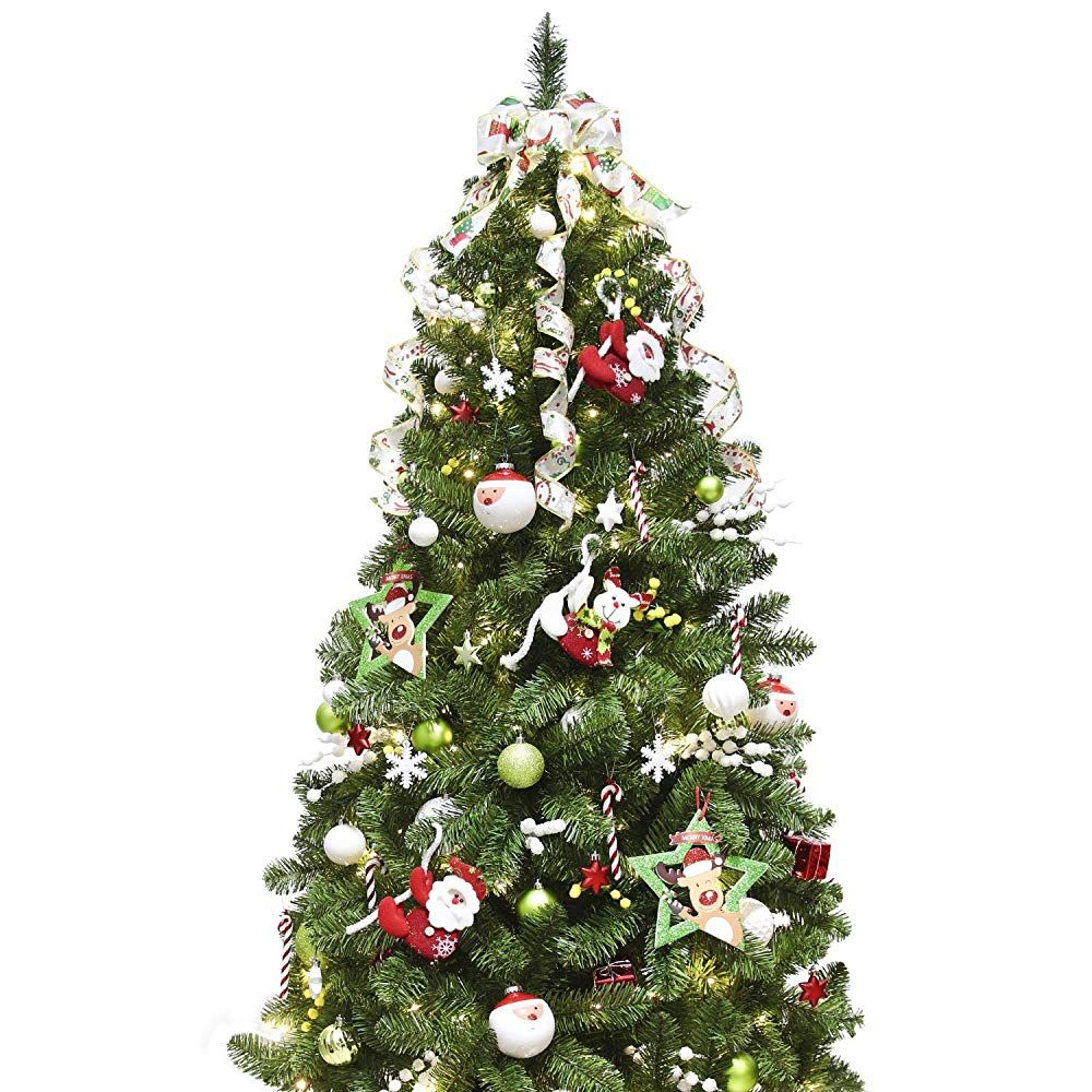 Ki Store Artificial Christmas Tree With Decoration Ornaments Cute Santaa S Suit Christmas Themes Decorations Christmas Tree Themes Christmas Tree Decorations