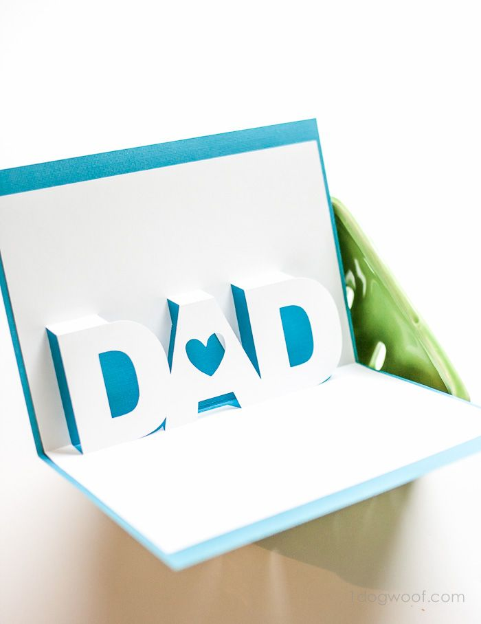 Fathers Day Pop Up Card With Free Silhouette Templates