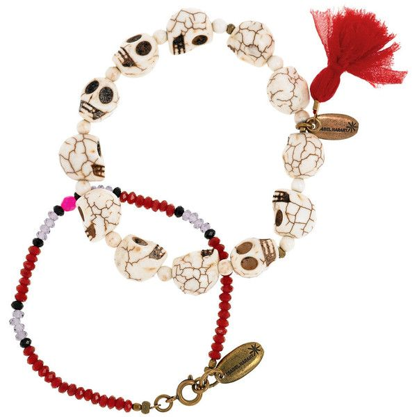 Isabel Marant Janis & For A Life set of two beaded bracelets found on Polyvore