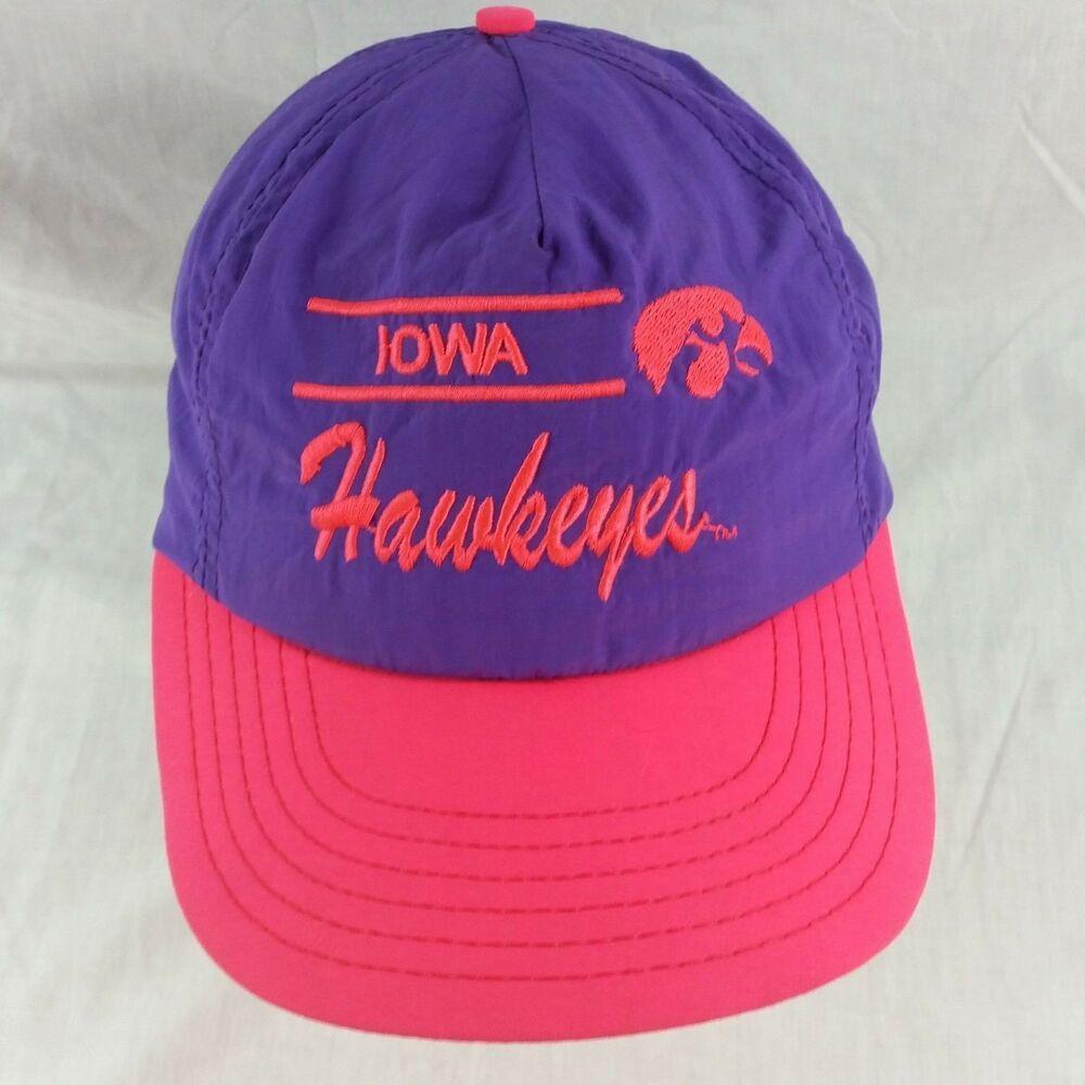 3ae340f7dde185 Vintage Iowa Hawkeyes Snapback Hat Baseball Cap Neon Pink Purple Semco USA  NCAA #Semco #BaseballCap #Snapback #SnapbackHats #BaseballHAt #BaseballCap # hat ...