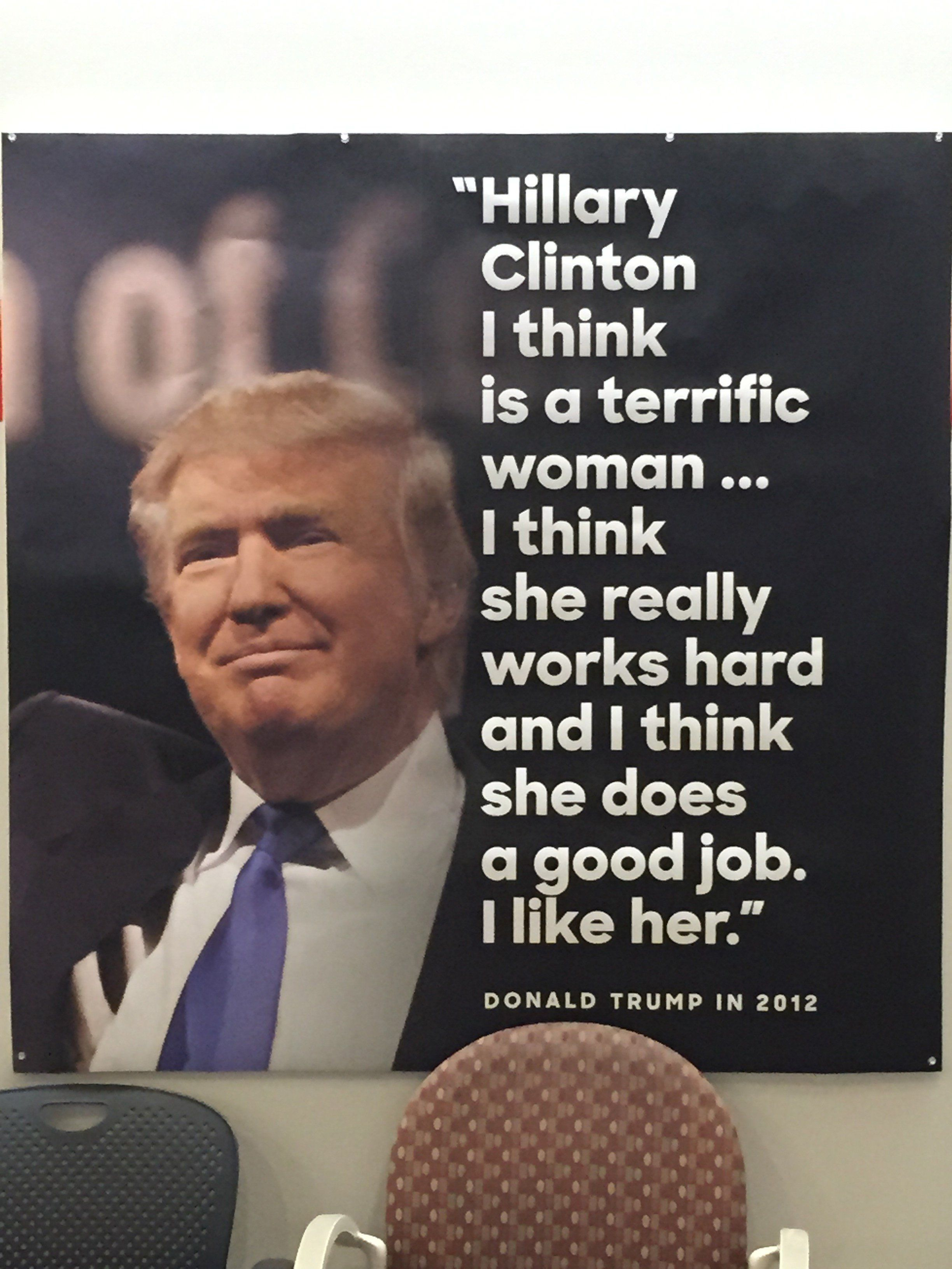 GOP douches admire Hillary. That could certainly be taken both ways, couldn't it?