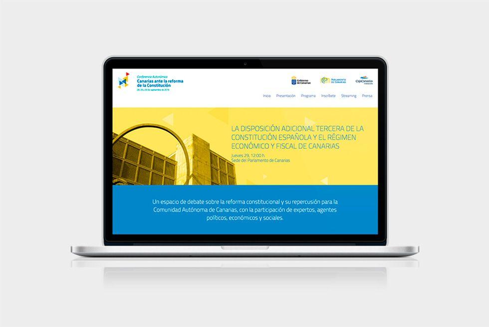 Diseno web Canarias en la Constitución portada