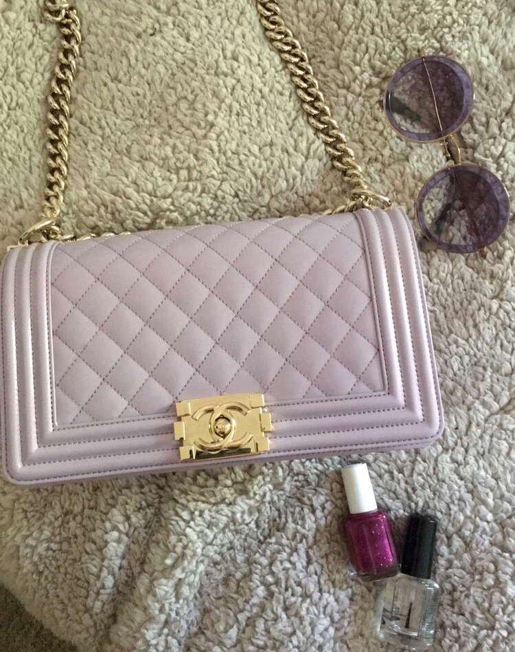 4e8d3e265699 pastel lilac chanel boy bag