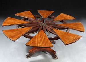 Delightful This Extremely Rare And Important English Mahogany Circular Extension  Dining Table Was Designed And Patented By